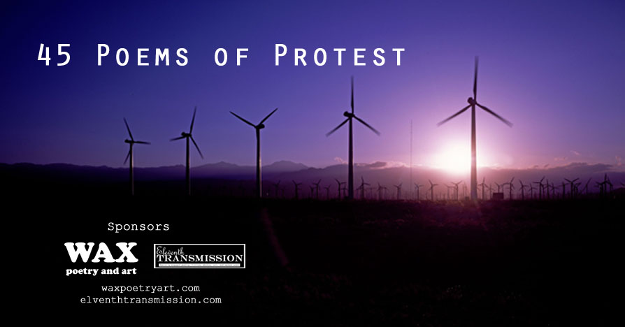 45 Poems of Protest - Header image shows wind turbines - click to go to the 45 Poems of Protest Home Page.