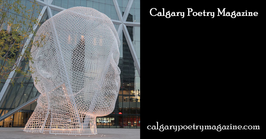 Calgary Poetry Magazine header - image shows sculpture of a head - click to go to the Calgary Poetry Magazine home page.
