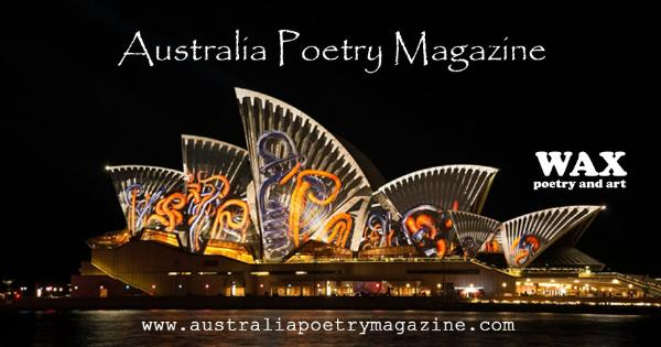 Australia Poetry Magazine - australiapoetrymagazine.com - Background image shows the Sydney Opera House at night.