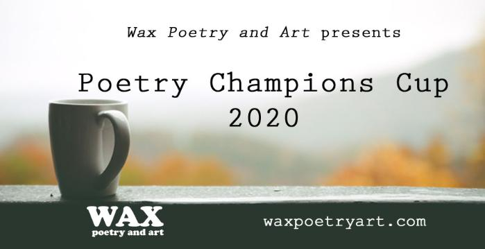 Image shows a coffee mug - Wax Poetry and Art Poetry Champions Cup 2020