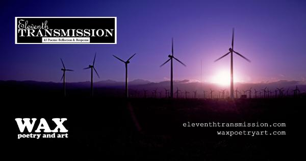 Smaller header image for Facebook; images shows a sunrise behind windmills.