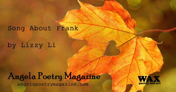 Angela Poetry Magazine - www.angelapoetrymagazine.com - Background image shows an autumn leaf with a heart-shaped hole.