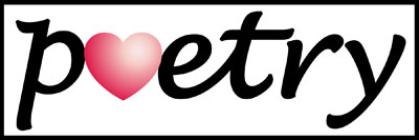 Poetry heart logo - click to buy the bookmark and sticker combo